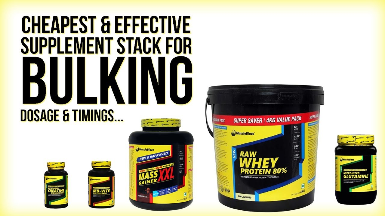 best supplement stack for bulking